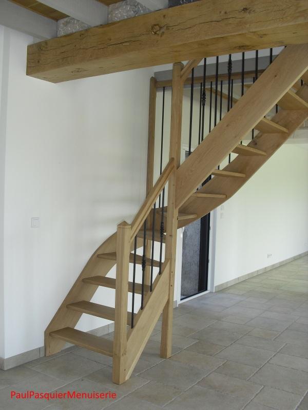 Escalier un quart tournant paul pasquier menuiserie - Escalier un quart tournant ...